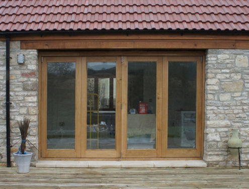 Bi folding doors to compliment the 6 x 8 metre frontage