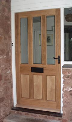 Oak Front Door With Black Fittings