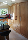 Oak Shaker Style Kitchen with Black Granite Work Surface : View 1