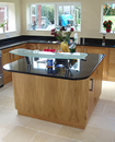 Oak Shaker Style Kitchen with Black Granite Work Surface : View 2