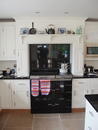Plain White Shaker Style Kitchen with Oak Trim : View 4
